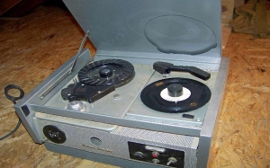 Record Playing Answering Machine Grey