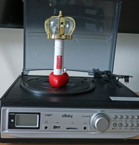 record player with light